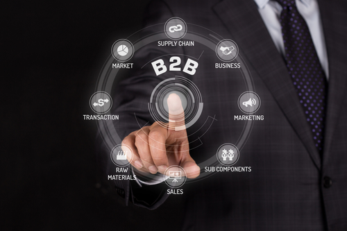 B2B TECHNOLOGY COMMUNICATION TOUCHSCREEN FUTURISTIC CONCEPT