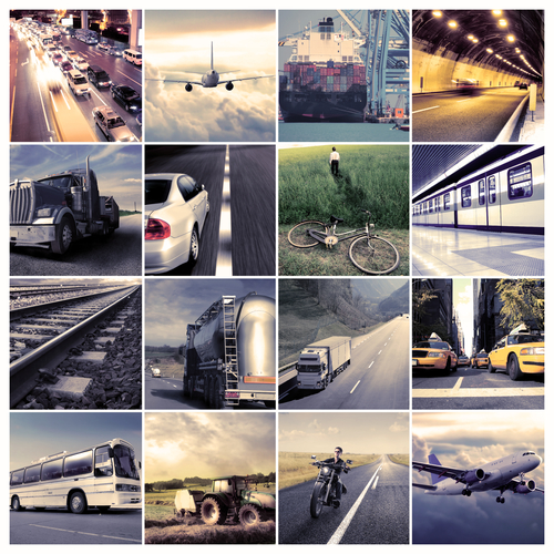 Composition of different means of transportation